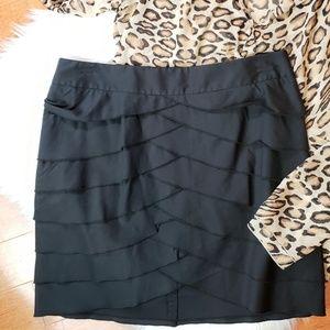 BCBG MaxAzria silky skirt with layers, sz4